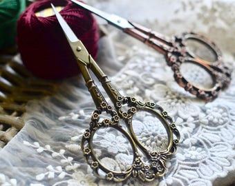 Scissors, Sewing scissors, Cutting scissors, Antique scissors, Crochet scissors, Embroidery scissors, Sewing supplies, Gift for her, For her