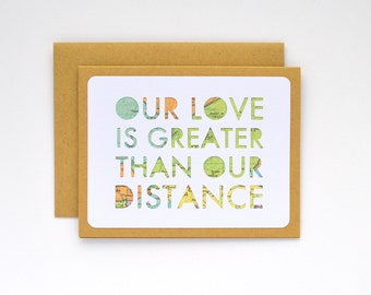 Long Distance Relationship Valentine, Long Distance Valentine's Day Card, Military Deployment Separation Card, I Love You Card for Boyfriend