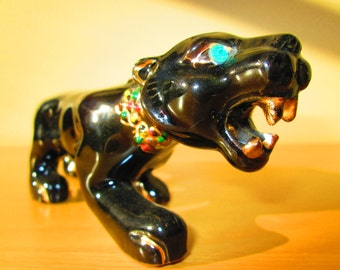 Vintage Black Jaguar Figurine