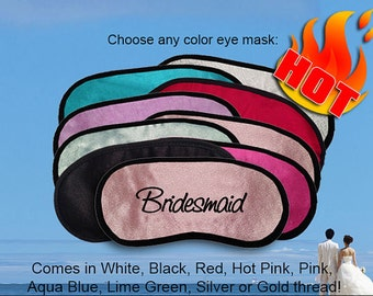 Bridesmaid Custom Made Embroidered Eye Mask - favorite on pinterest tumblr instagram polyvore