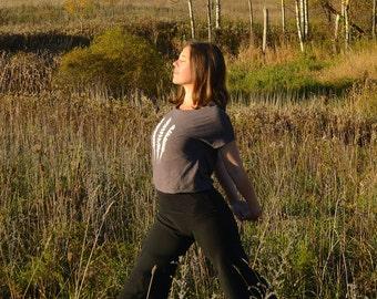 Organic Wide Leg Yoga Pants - Capri Leggings - Capri Pants - Dance, Hooping, Fitness - Hemp, Organic Cotton - Natural Leggings