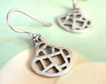 Openwork Earrings-sterling silver