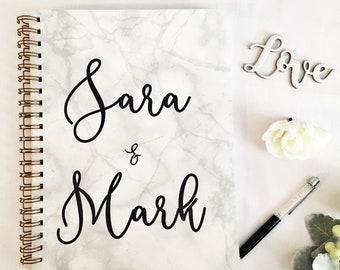 Bride wedding planner organizer, bride to be gift, bridal planner book, engagement gift for bride, fiancee gift, wedding keepsake book, best