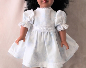 """Snowflake Dress for an 18"""" Doll"""