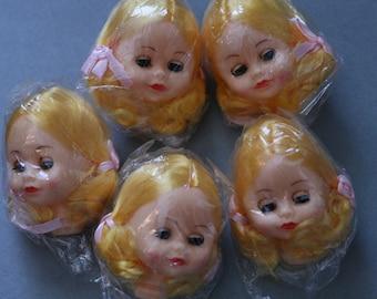 Doll Head / One / Blonde / Sleeping Eyes / NOS / Vintage