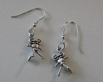 Sterling Silver 3D VIDEO PRODUCER  Earrings - Filming, Film, Photographer, Videotographer