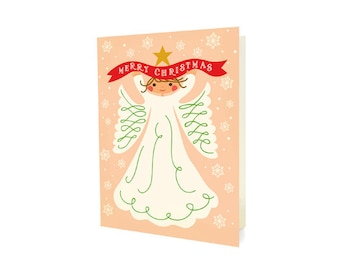Angel Folded Holiday Cards, Box of 10 - Merry Christmas - OC1175-BX