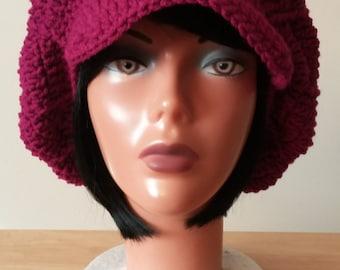 Crochet Newsboy Beanie