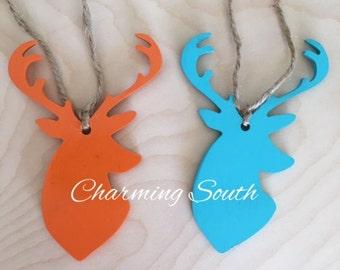 Mini Wooden Deer Head Ornament