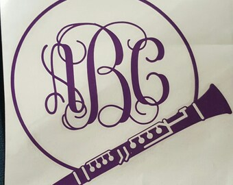Clarinet Car Decal, Marching Band Decal
