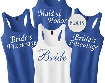 Bridesmaid Shirts, Wedding Party Tanks, Bride Shirt, Bridesmaid Tank Tops, Bridesmaid Shirt, Bridal Party Tanks, Bachelorette Party Shirts