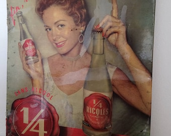 Vintage apothecary RICQLES with pinup store