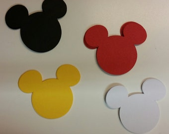 Mickey Mouse Heads Die Cuts/ Embellishments/ Cutouts/ Silhouettes