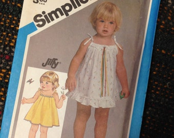 PULLOVER SUNDRESS Toddler Size 1.  Simplicity #6477