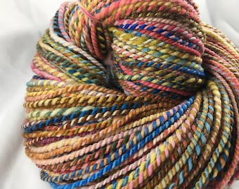 Handspun Yarn 242 Yards Worsted Targhee Wool OOAK