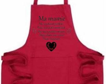 Custom choice of 2 colors apron celebrates grannies