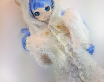 Sd / Dd - Fluffy Bunny Long Jumper / Hoodie (over sleeved)