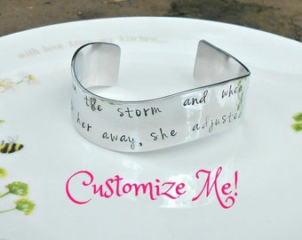Choose Your Own Quote, Custom Cuff, Hand Stamped Bracelet, Personalized Cuff, Your Own Personal Quote, Custom Gift, Unique Custom Gift.