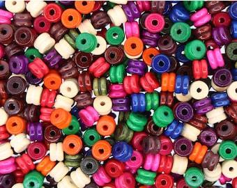 300 pcs - Wood Bead Mix (Tire) 6MM