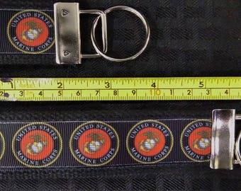 U S Marine Corp Inspired Key Fob/wristlet