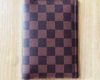 Handmade Monogram Passport Case Cover Wallet Holder