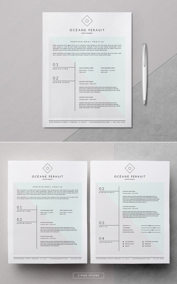 Resume Template 4pk Resume Template For Ms Word Iwork