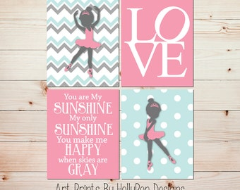 Girls room decor Pink girl prints Girl quote Ballerina nursery art You are my sunshine Nursery quotes Nursery decor girl Baby girl art #1004