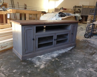 TV Stand, Entertainment Center, Media Console, Cabinet, Reclaimed Wood, Rustic