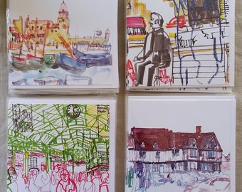 Art Cards Urban Sketches Set