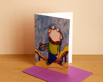 For boys, kids birthday card card card, any occasion card blank card funny