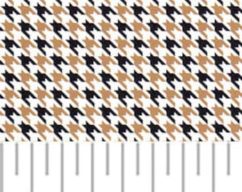 Black and Gold Houndstooth Fabric – Mini Houndstooth, Fabric Finders,100 percent cotton