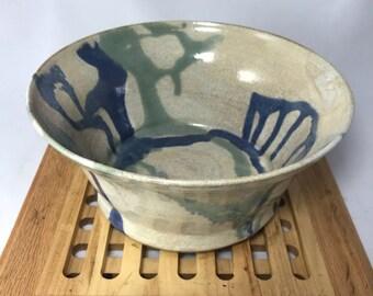 Pottery serving bowl, stoneware bowl, fruit bowl, candy dish, dinnerware, casserole