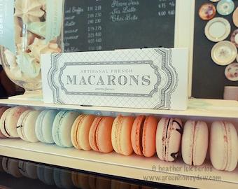 Kitchen Art - Macarons Food Cafe Wall Decor - Fine Art Photography Print