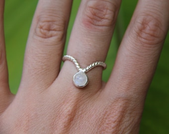 Ola Ring, Moonstone Ring, Sterling Silver Ring, Boho Ring, Gypsy Ring, Stone Ring, Statement Ring, Sunsara Jewellery, Stacking Ring