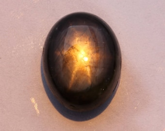 Black Star Sapphire 13x10 mm Oval Cabochon Natural Thailand Gemstone 9.30 carat