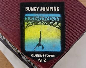 Vintage New Zealand Patch, Queenstown, Bungy Jumping Souvenir, Sew on Patch, Souvenir Felt Badge, Retro NZ Souvenir