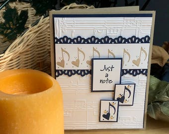 Just a note note card, musical notes card, music note themed card