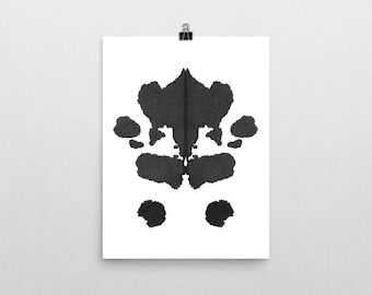 Psychology Art Rorschach Ink Blot Art print no 1