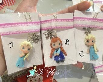 Necklace Princesses Disney Elsa Anna Snow white Cinderella Alice Aurora Cenerentola Biancaneve