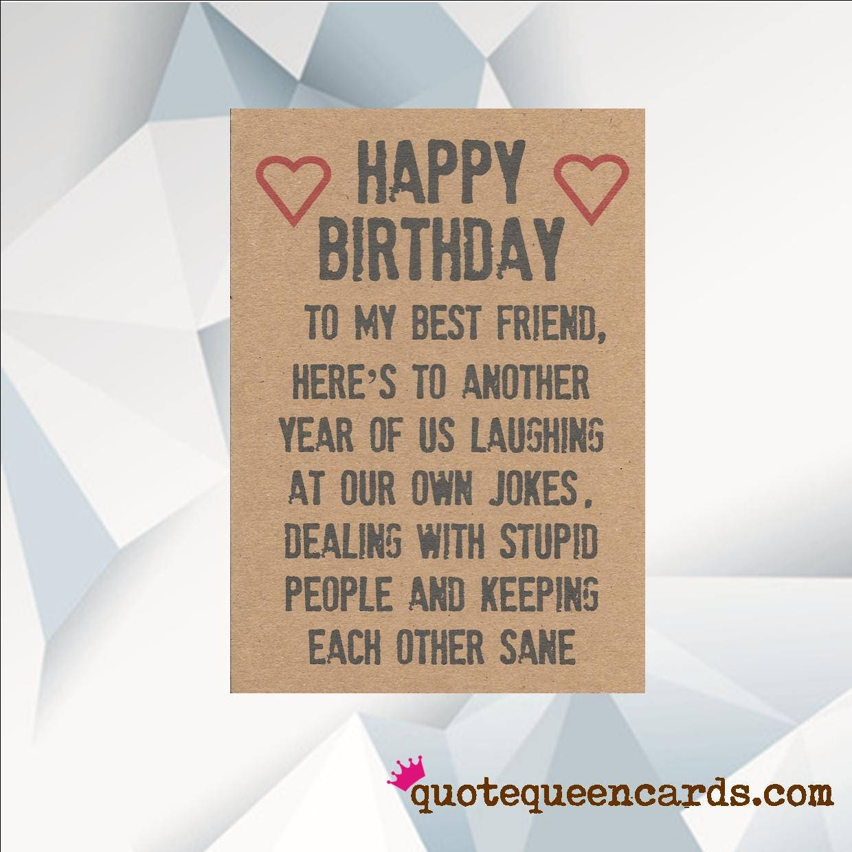 Happy birthday best friend funny card for