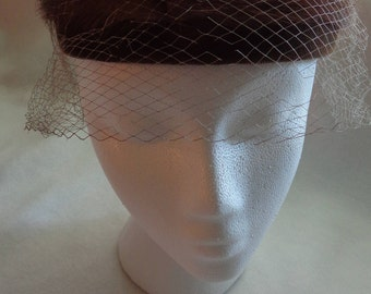 1960's Mink Hat with Veil