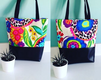 Spirit desigual colorful tote