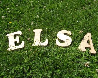 ELSA Puzzle Game Kids Name Toy Baby name Puzzle Toddler Game Kids puzzles Kids names Girls name Developmental puzzle toys Puslespil Legetøj