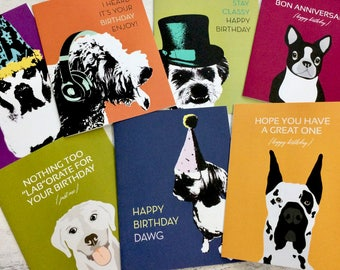 On sale Today- 10 Assorted  alll Dog breeds all occassion Cards,Perfect Birthday, Dog lovers- U Lucky Girl - Etsy