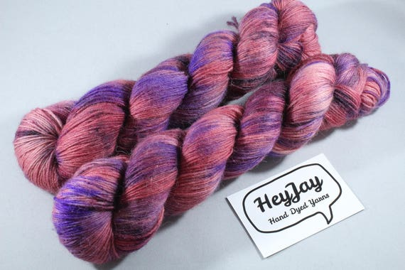 Hand Dyed Alpaca/Merino/Nylon Sock Yarn - Summer Fool