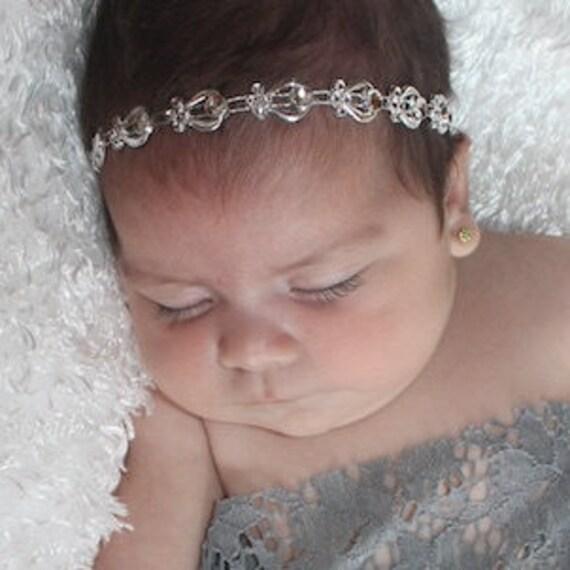 Silver Girl Headband, Baby Headband, Baby Headbands, Baby Girl Headpiece, Baby Accessories, Baby Girl Headband, Baby Shower Gift