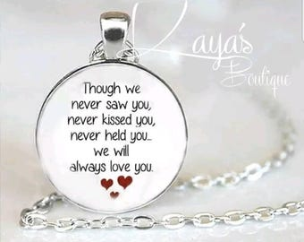 925 Silver Plated Miscarriage *Memorial* Baby Loss Necklace Chain Pendant *Keepsake Gift*