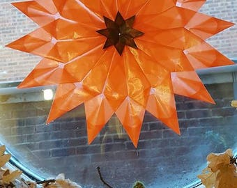 Waldorf winter autumn star made with strong kite paper