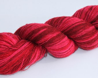 KAUNI Estonian Artistic Wool Yarn Red II  8/1, Art Wool  Yarn for Knitting, Crochet