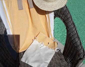 large yellow beach bag DJERBA